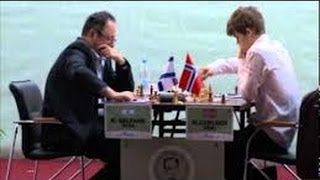 Amazing Chess Game: Magnus Carlsen vs Gelfand - Tal Memorial- Elephant Gambit style! - Brilliancy!