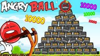 1000 БОССОВ КВАДРАТОВ И КРАСНЫЙ ШАРИК в Энгри Бердз !!! Red Ball 4 in Angry Birds Мультик про шар !
