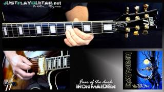 [ IRON MAIDEN - Fear of the dark ] How to play part 1/2 [ guitar cover ]