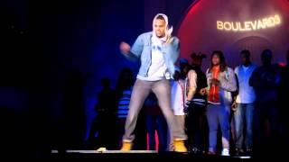 Chris Brown Dancing @ Blvd 3 in Hollywood