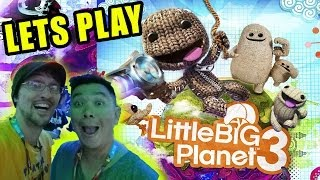 Lets Play Little Big Planet 3 w/ T.A.G.G. (PS4 E3 2014 Gameplay) Co-Op Shoulder Cam ;P