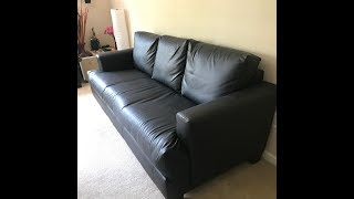 DIY - Reupholster  Leather Sofa in a week !