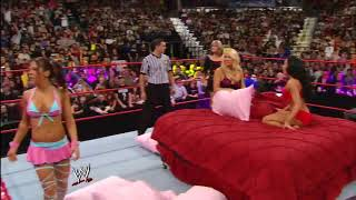 WWE RAW 07/01/2008│WWE Divas Lingerie Pillow Fight