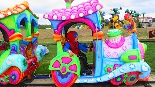 baby story train toy with toddlers