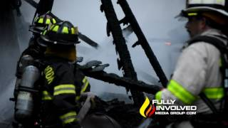 Setauket, NY: Large Barn Structure Destroyed by Early Morning Fire on Ada Lane 06-19-17