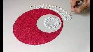 Easy, quick and beautiful rangoli design