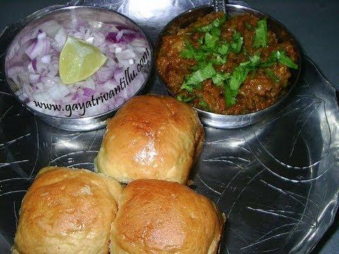 Pav Bhaji - Indian Andhra Telugu Food