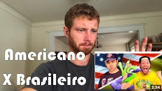 """GRINGO REAGE a parodia """"AMERICANO vs. BRASILEIRO ♫: (Galo Frito) Tim Explica"""