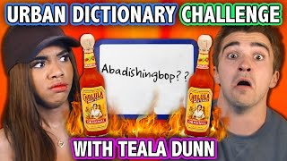 URBAN DICTIONARY HOT SAUCE CHALLENGE (ft. Teala Dunn)   Challenge Chalice