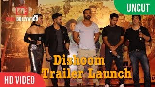 UNCUT - Dishoom Official Trailer Launch | John Abraham, Varun Dhawan, Jacqueline Fernandez