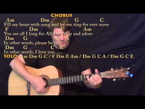 Fly Me to the Moon (Jazz Standard) Strum Guitar Cover Lesson with ChordsLyrics