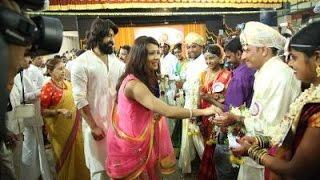 Film Star  Yash and Radhika Pandith In Dharmastala Mass Marrage
