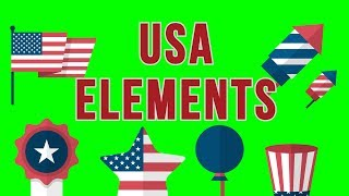 USA 4th July Elements Pack - Green Screen Footage Free Download