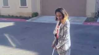 China Anne McClain mocking her brother Gabe's NO PARKING video!