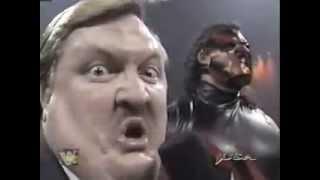 WWF Masked kane's first night on raw