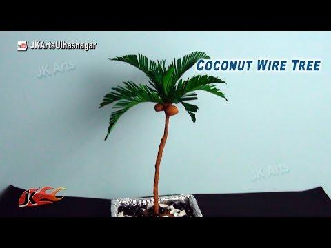 Coconut Paper Tree Tutorial | How to make | JK Arts 800