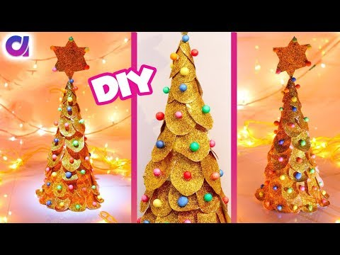 3D Paper Christmas Tree : How to Make a DIY Paper Christmas Tree | X-mas Tree Decorations | artkala