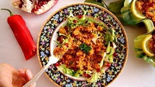 Bulgur Salad Recipe - Itch Salad - Armenian Cuisine - Heghineh Cooking Show