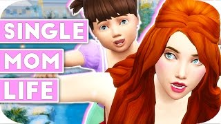 SINGLE MOM LIFE | THE SIMS 4 | Part 2 – Stay & Play☕️🌈
