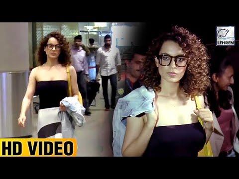 Kangana Ranaut's GEEKY Look At The Airport | LehrenTV