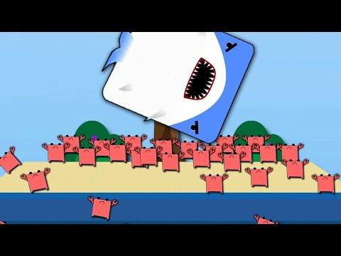 Deeeep Gameplay - Crab People Army ATTACK vs SHARK!  Deeeep.io Gameplay Funny Moments