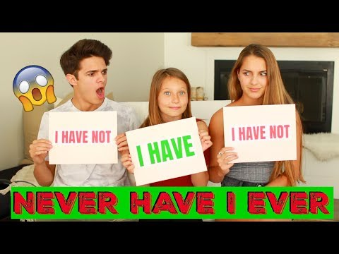 NEVER HAVE I EVER w Little Sister and Cousin Brent Rivera