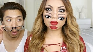 Trippy Double Vision Makeup Look
