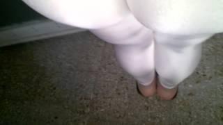 Calza - White Leggings - Calzas de Lycra Blancas -  Leggins Spandex Shiny Suplex Mallas Mallones