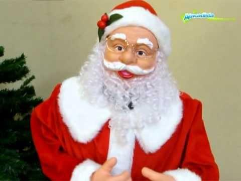 Papai Noel Eletrônico 1 2m em pé c música e movimento Bivolt E27284 Natália Christmas