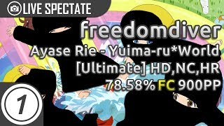 freedomdiver | Ayase Rie - Yuima-ru*World TVver. [Ultimate] +HD,NC,HR | 78.58% 900pp | Livespectate!