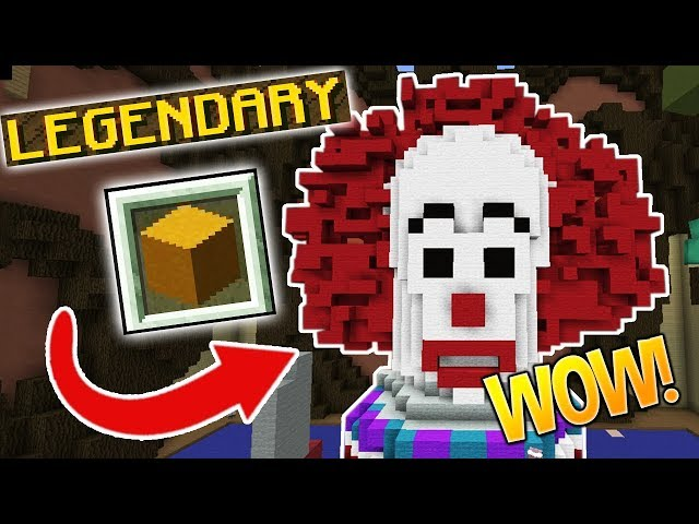 DOUBLE LEGENDARY SCARY CLOWN!!! (Minecraft Build Battle)
