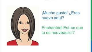 Diálogo 1 Espagnol Francés - Cómo te llamas? - Comment t'appelles-tu?