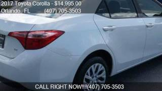 2017 Toyota Corolla LE CVT for sale in Orlando, FL 32807 at