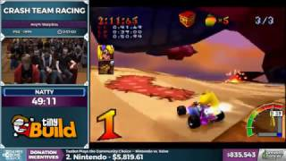 AGDQ 2017 - Room claps that donators Grandpa has died of cancer during Crash Team Racing [Cringe]