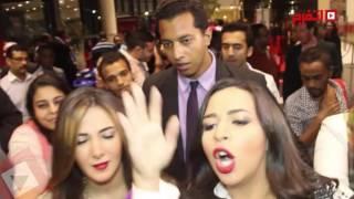 اتفرج| دنيا وأيمي سمير غانم يرفضون التصريح قبل عرض مسلسل نيلي وشيريهان