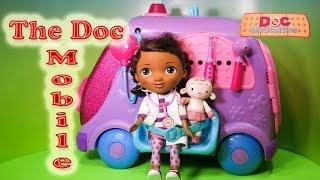 DOC MCSTUFFINS Disney Doc Mc Stuffins Doc Mobile Toys Video Unboxing