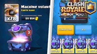 Clash Royale ENORME PACK OPENING DE LEGENDAIRE AVEC DES COFFRES LEGENDAIRES SUPER MAGIQUES MAGIQUE
