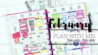 Plan With Me! February 12th - 18th | RAINBOW SPREAD 🌈 | Classic Happy Planner