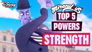 Miraculous Ladybug | Top 5 Powers - SUPER STRENGTH 💪| Disney Channel UK