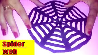 Halloween crafts!!How to maje spider web at home  cool and creative-crafts fir kids