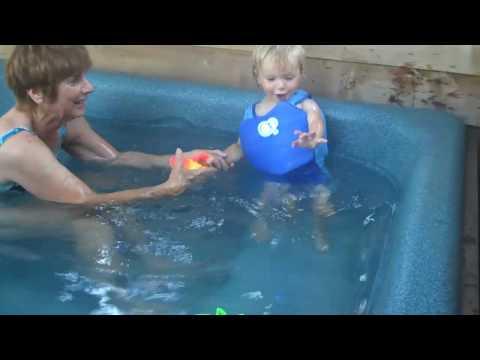 Jack Video 81 - Swimming w/Grandma & Grandpa