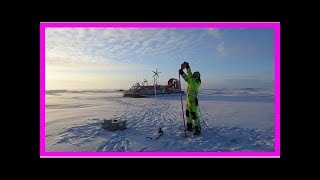 Alone on an arctic ice floe, with a hovercraft