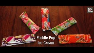 Paddle Pop Ice Cream with a surprise at the heart of it.