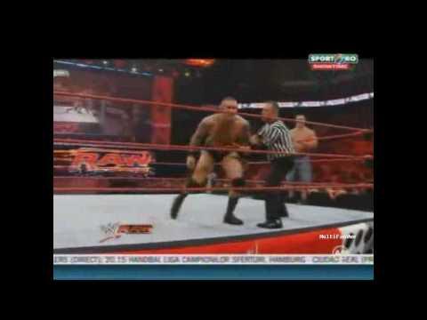 Randy Orton & John Cena vs Batista & Jack Swagger SPORT.RO