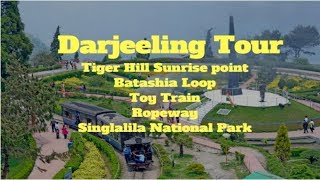 Darjeeling Tour-Tiger Hill Sunrise point,Toy Train,Batashia loop, Ropeway, Singlalila National Park,