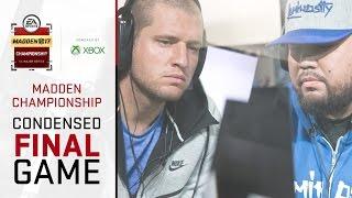 Madden 17 Championship Final | Full Game (Condensed) | Problem Vs Skimbo
