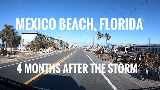 Mexico Beach Storm Damage And Florida Gulf. Full Time Van Life.