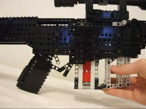 Barrett M82A1 .50 cal bolt action sniper rifle lego