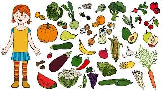 Obst oder Gemüse? | Deutsch lernen für Kinder