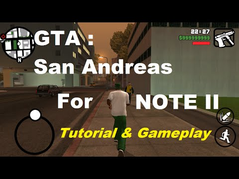 How to install GTA San Andreas on Note II - Tutorial & Gameplay | Chetan Technical